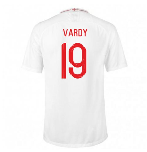 2018-2019 England Home Nike Football Shirt (Vardy 19)