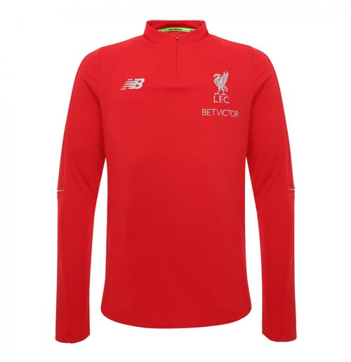 2018-2019 Liverpool Half Zip Midlayer Training Top (Red)