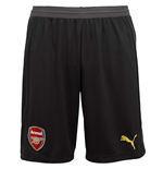 2018-2019 Arsenal Home Goalkeeper Shorts (Black) - Kids
