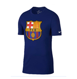 2018-2019 Barcelona Nike Evergreen Crest Tee (Deep Royal)