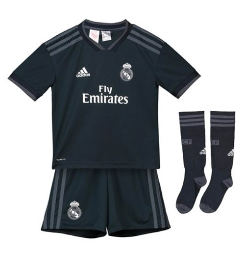 best service 64065 00add 2018-2019 Real Madrid Adidas Away Full Kit (Kids)