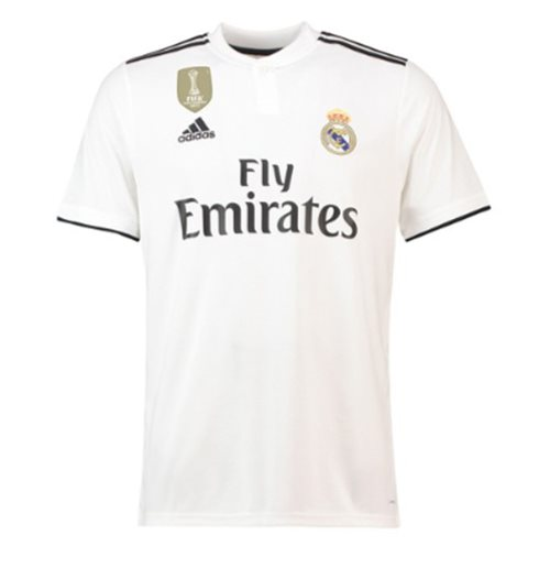 2018-2019 Real Madrid Adidas Home Football Shirt
