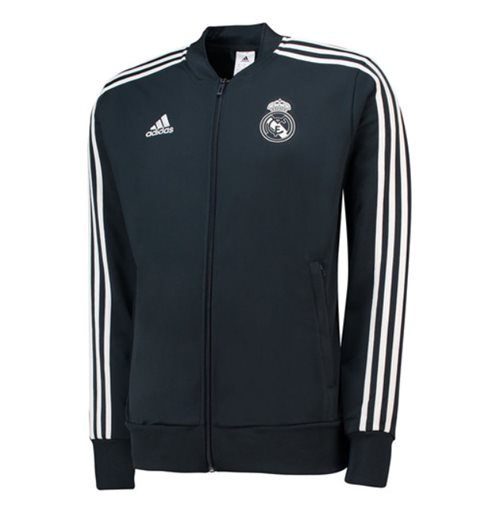 2018-2019 Real Madrid Adidas Knitted Presentation Jacket (Dark Grey) - Kids