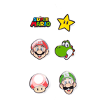 Super Mario - Mario Characters Metal Pin Set