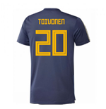 2018-2019 Sweden Training Jersey (Noble Indigo) (Toivonen 20)