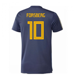 2018-2019 Sweden Training Jersey (Noble Indigo) (Forsberg 10)