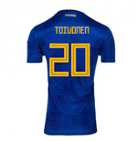 2018-2019 Sweden Away Adidas Football Shirt (Toivonen 20)