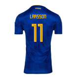 2018-2019 Sweden Away Adidas Football Shirt (Larsson 11) - Kids