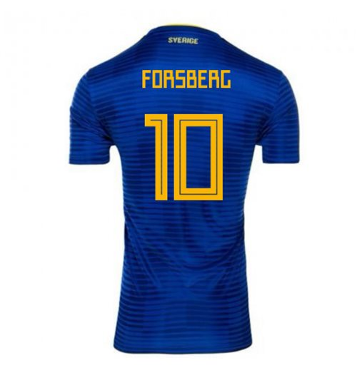2018-2019 Sweden Away Adidas Football Shirt (Forsberg 10)