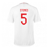 2018-2019 England Home Nike Football Shirt (Stones 5) - Kids