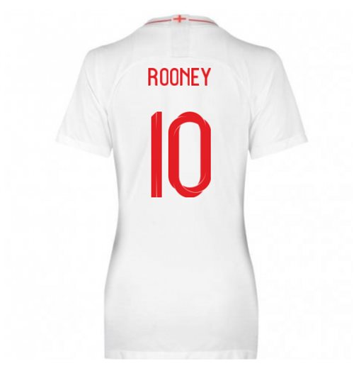 2018-2019 England Home Nike Womens Shirt (Rooney 10)