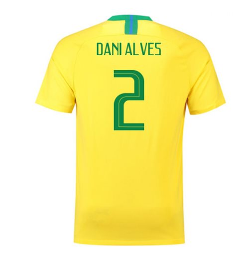 2018-2019 Brazil Home Nike Football Shirt (Dani Alves 2) - Kids