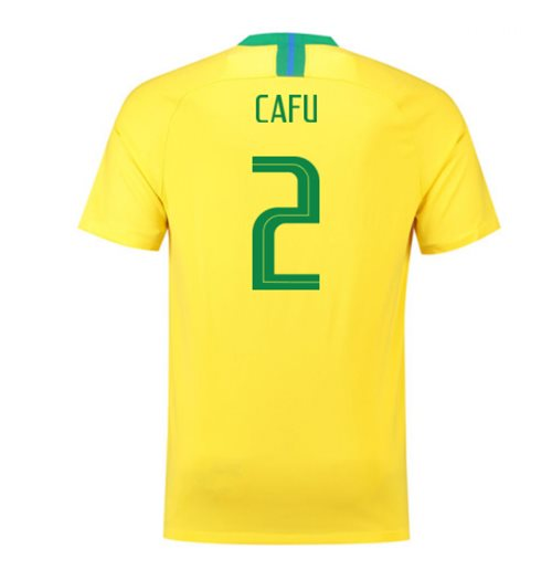 2018-2019 Brazil Home Nike Football Shirt (Cafu 2)