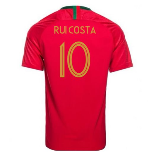 2018-2019 Portugal Home Nike Football Shirt (Rui Costa 10) - Kids