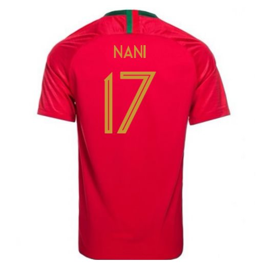 2018-2019 Portugal Home Nike Football Shirt (Nani 17)