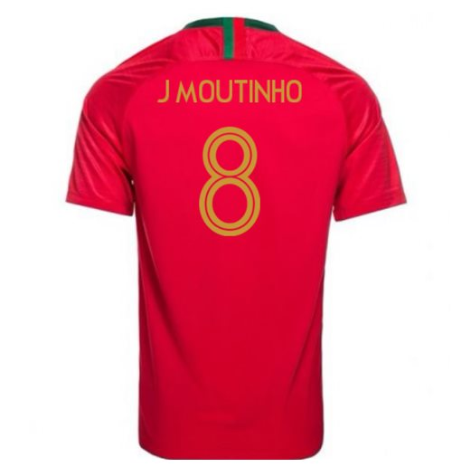 2018-2019 Portugal Home Nike Football Shirt (J Moutinho 8) - Kids
