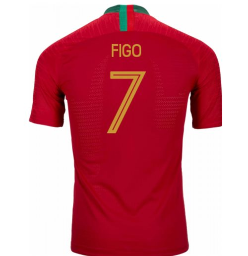 2018-2019 Portugal Home Nike Vapor Match Shirt (Figo 7)