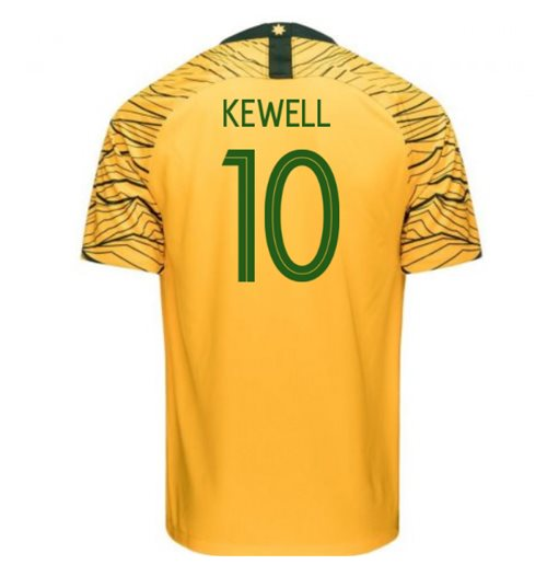 2018-2019 Australia Home Nike Football Shirt (Kewell 10)