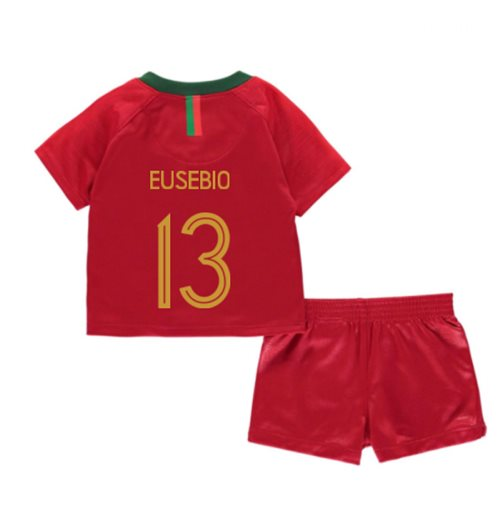 2018-2019 Portugal Home Nike Baby Kit (Eusebio 13)