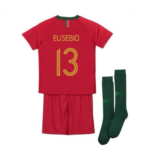 2018-2019 Portugal Home Nike Mini Kit (Eusebio 13)