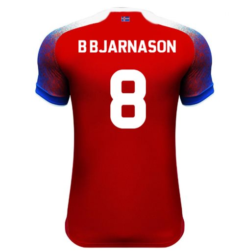 2018-2019 Iceland Third Errea Football Shirt (B Bjarnason 8)