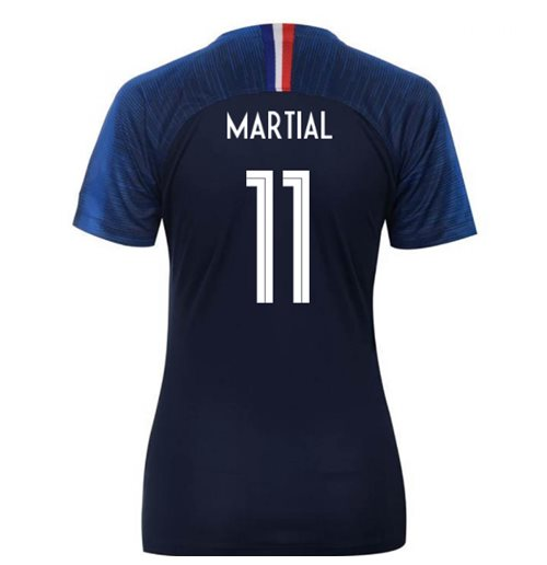 2018-2019 France Home Nike Womens Shirt (Martial 11)