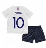 2018-2019 France Away Nike Little Boys Mini Kit (Zidane 10)