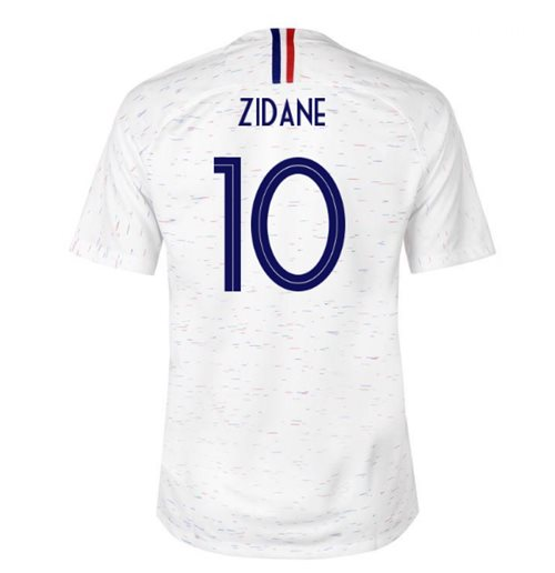 2018-2019 France Away Nike Football Shirt (Zidane 10)