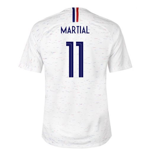 2018-2019 France Away Nike Football Shirt (Martial 11)