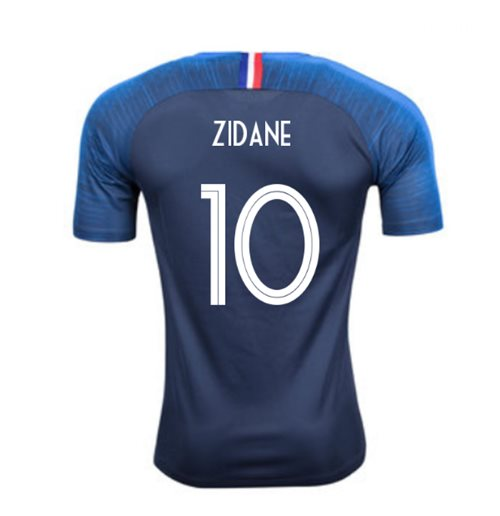 2018-2019 France Home Nike Football Shirt (Zidane 10) - Kids