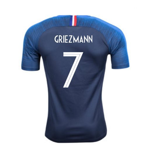 2018-2019 France Home Nike Football Shirt (Griezmann 7)