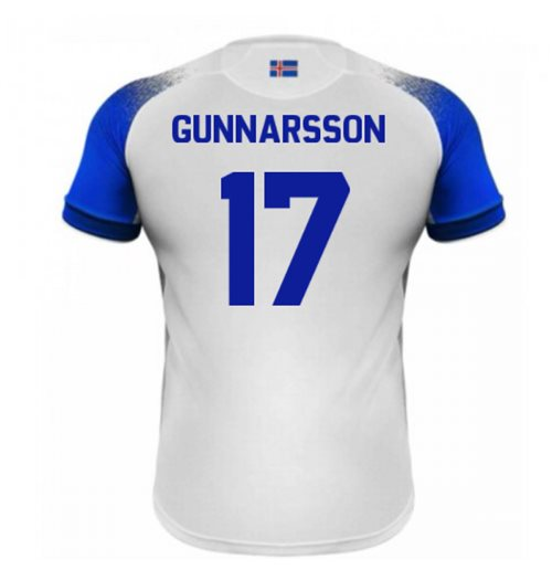 2018-2019 Iceland Away Errea Football Shirt (Gunnarsson 17)