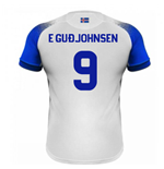 2018-2019 Iceland Away Errea Football Shirt (E Gudjohnsen 9)