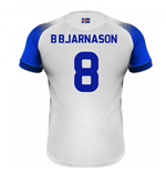 2018-2019 Iceland Away Errea Football Shirt (B Bjarnason 8)