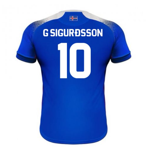 2018-2019 Iceland Home Errea Football Shirt (G Sigurdsson 10)