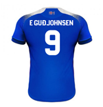 2018-2019 Iceland Home Errea Football Shirt (E Gudjohnsen 9)