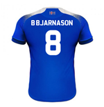 2018-2019 Iceland Home Errea Football Shirt (B Bjarnason 8)
