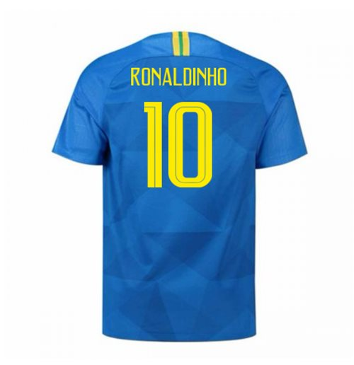 2018-2019 Brazil Away Nike Football Shirt (Ronaldinho 10) - Kids