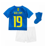 2018-2019 Brazil Away Nike Baby Kit (Willian 19)