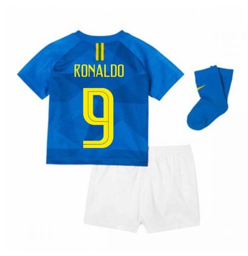 timeless design a3cea 3e5cc 2018-2019 Brazil Away Nike Baby Kit (Ronaldo 9)