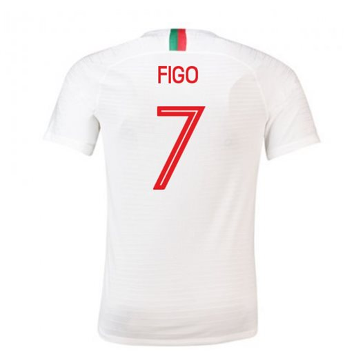 2018-2019 Portugal Away Nike Football Shirt (Figo 7)
