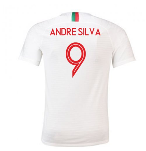 2018-2019 Portugal Away Nike Football Shirt (Andre Silva 9)