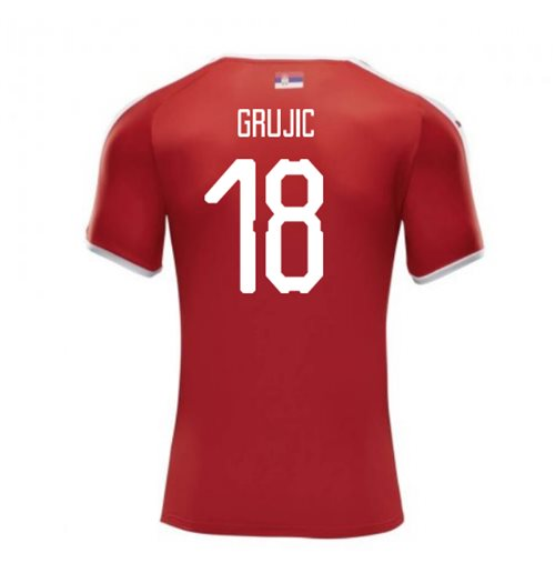 2018-2019 Serbia Home Puma Football Shirt (Grujic 18)
