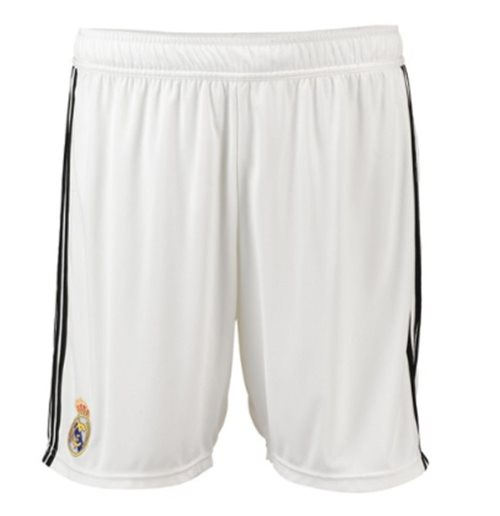 2018-2019 Real Madrid Adidas Home Shorts (White)