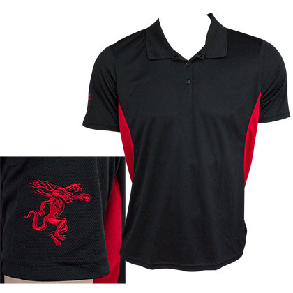 Fireball Whisky Black Red Men's Performance Golf Polo Shirt