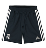 2018-2019 Real Madrid Adidas Woven Shorts (Dark Grey) - Kids