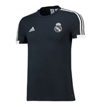 2018-2019 Real Madrid Adidas Training Tee (Dark Grey) - Kids