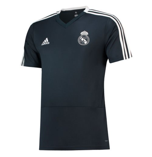 2018-2019 Real Madrid Adidas Training Shirt (Dark Grey)
