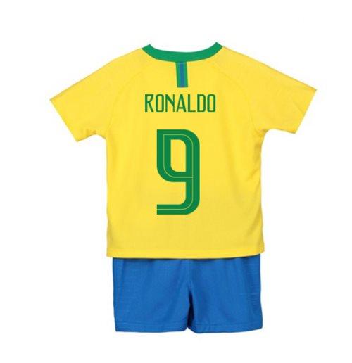 cheap for discount 6c354 7fda2 2018-2019 Brazil Home Nike Little Boys Mini Kit (Ronaldo 9)