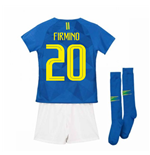 2018-2019 Brazil Away Nike Little Boys Mini Kit (Firmino 20)
